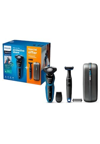 Philips, Elektrorasierer S5050/64 Series 5000, Anzahl Aufsätze: 1, Vorteilspack Aquatouch mit Bodygroom kaufen