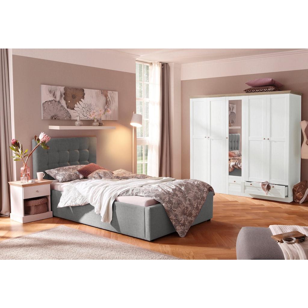 Home affaire Polsterbett »Hamar«, mit schöner Knopfheftung im Kopfteil, in 3 Größen und 2 Farben