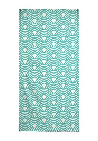Juniqe Strandtuch »Eastern Waves Light«, (1 St.), Weiche Frottee-Veloursqualität kaufen