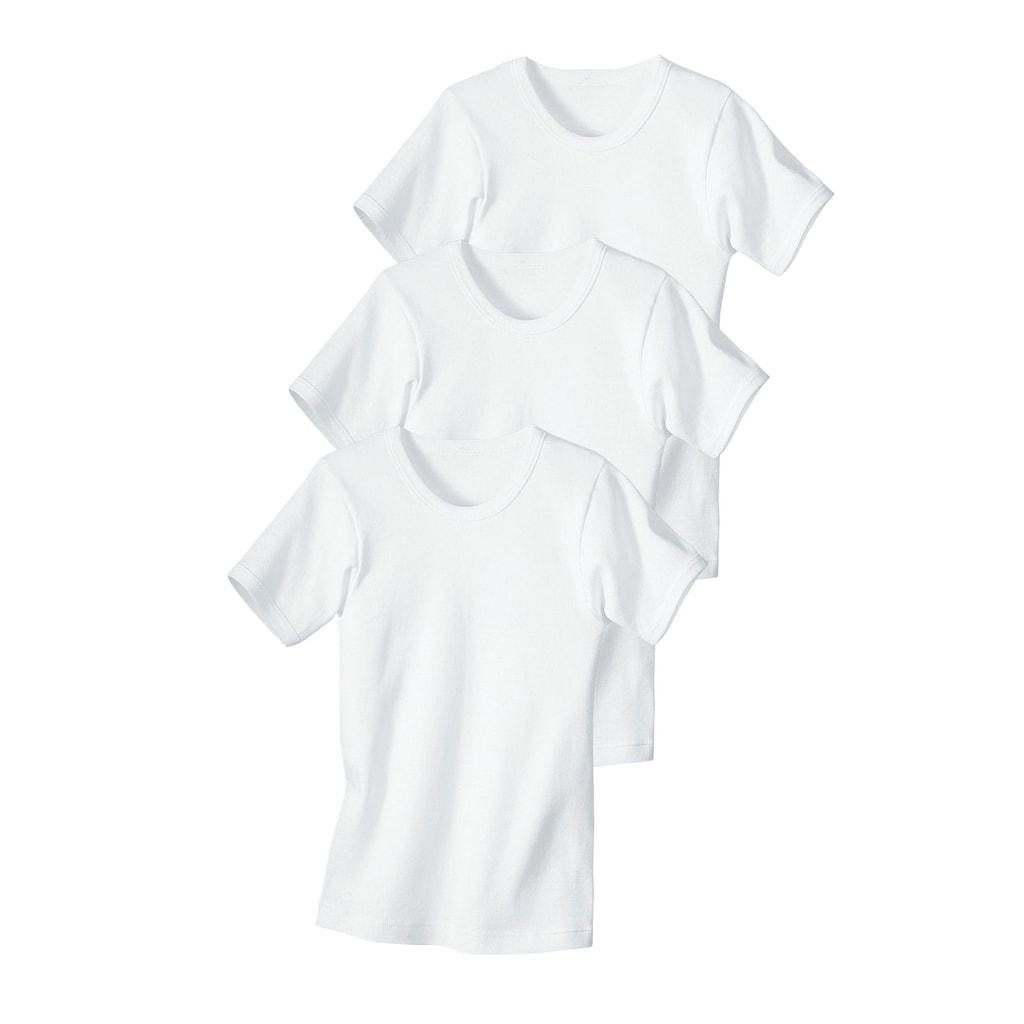Unterhemd, (3 St.), Feinripp-Qualität, reine Baumwolle