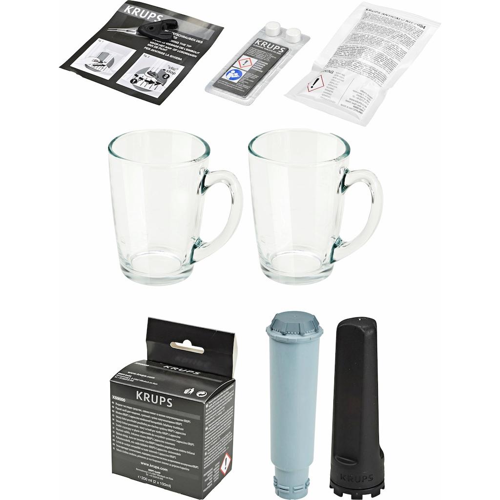 Krups Kaffeevollautomat EA9078 Barista New Age, Carbon, Espresso-Vollautomat, 1,9l Tank, Kegelmahlwerk