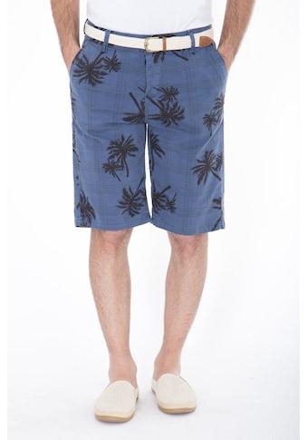 Daniel Daaf Shorts, mit allover Palmen-Print inkl. Flechtgürtel kaufen