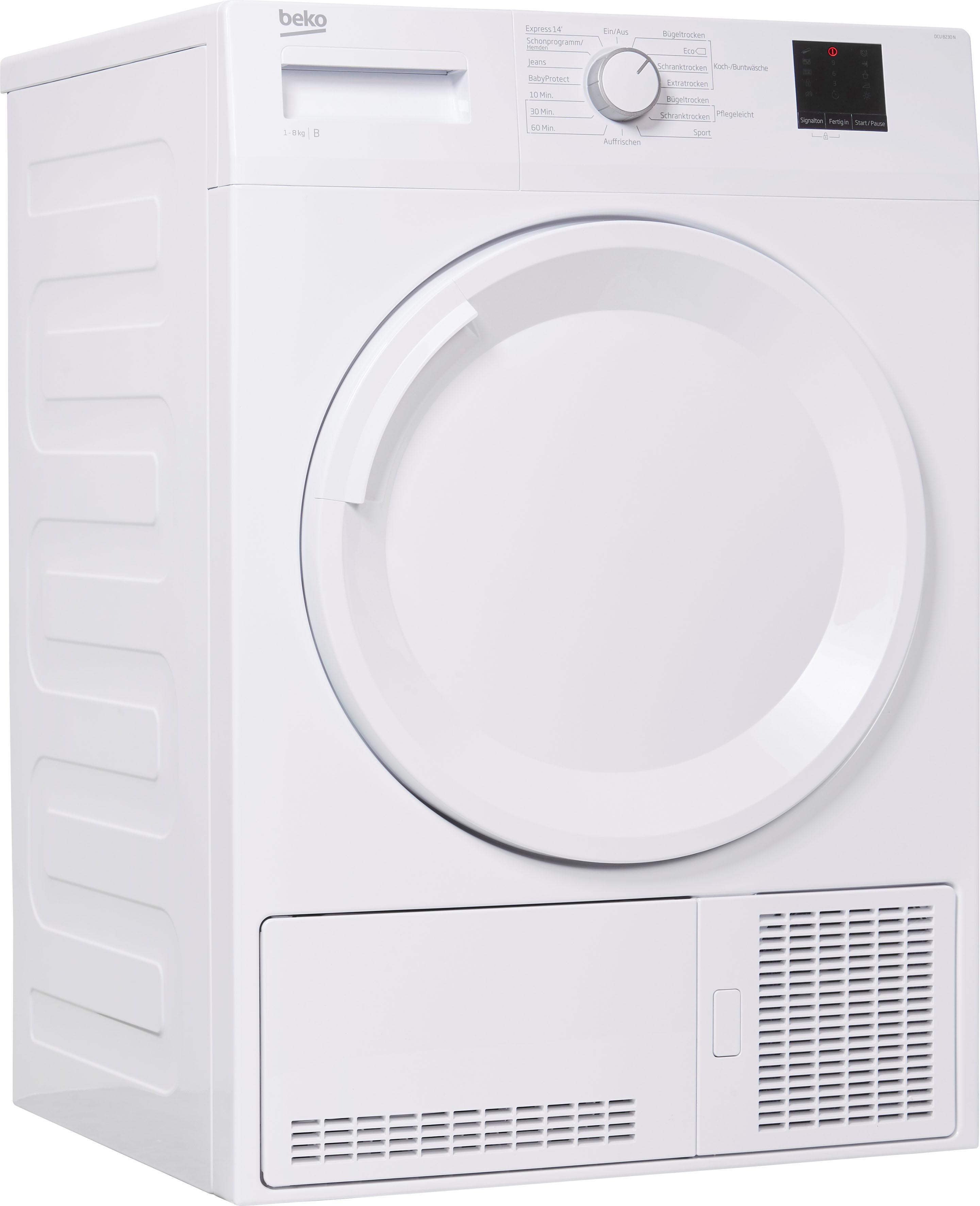 BEKO Kondenstrockner DCU 8230 N 8 kg   Bad > Waschmaschinen und Trockner > Kondenstrockner   Weiß   Beko