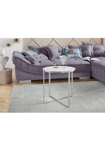 Leonique Beistelltisch »Lorian«, modernes Chromgestell, Tischplatte aus Glas kaufen