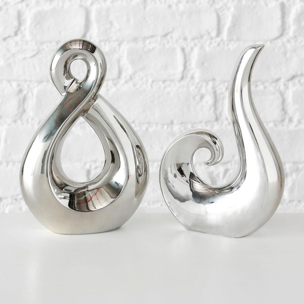 my home Dekoobjekt »Celly, silberfarben«, aus Keramik