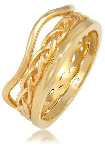 Elli Ring-Set »Ringset Wellen Geflochten Verdreht, 0612361319, 0612281319«, (Set, 3 tlg.) kaufen