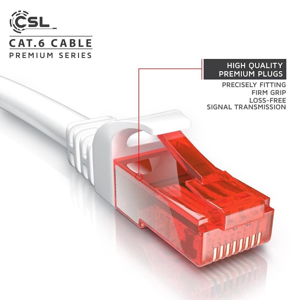 CSL CAT.6 Gigabit Ethernet LAN Patchkabel (RJ45)