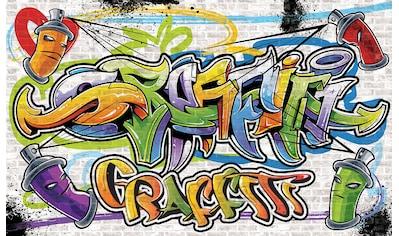 CONSALNET Vliestapete »Buntes Graffiti«, verschiedene Motivgrößen, für das Büro oder Wohnzimmer kaufen