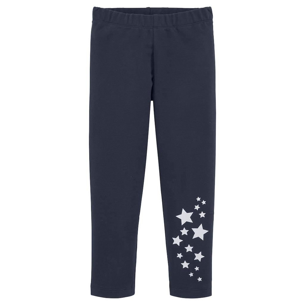 KIDSWORLD Sweatleggings, mit reflektierenden Sternen am Bein