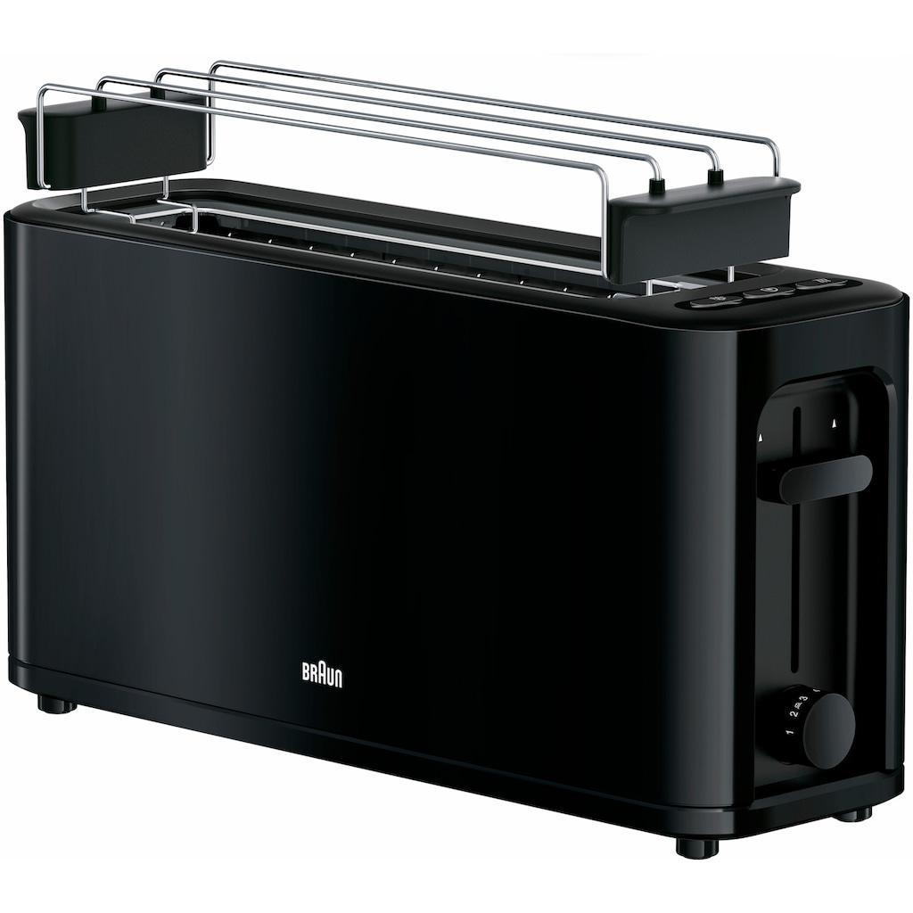 Braun Toaster »HT 3110 BK«, 1 langer Schlitz, für 2 Scheiben, 1000 W
