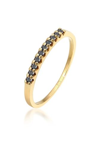 Elli Diamantring »Geo Schwarzer Diamant (0.15 ct.) 375 Gelbgold« kaufen