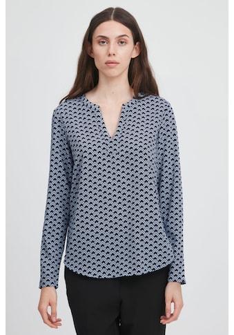 Ichi Langarmbluse »IHBRUCE SH6«, Gemustertes Blusenshirt mit V-Ausschnitt kaufen