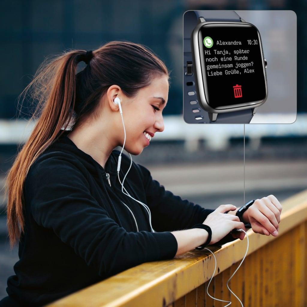 Hama Fitness-Tracker »Smartwatch mit Schrittzähler«, 4900, wasserdicht, Herzfrequenz u. Kalorien