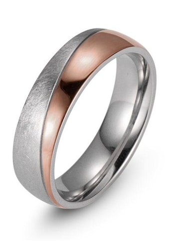 Firetti Trauring »7,0 mm, mit Vertiefung, teilweise IP-beschichtet, roségoldfarben, Glanzoptik, gekratzt, strukturiert« kaufen