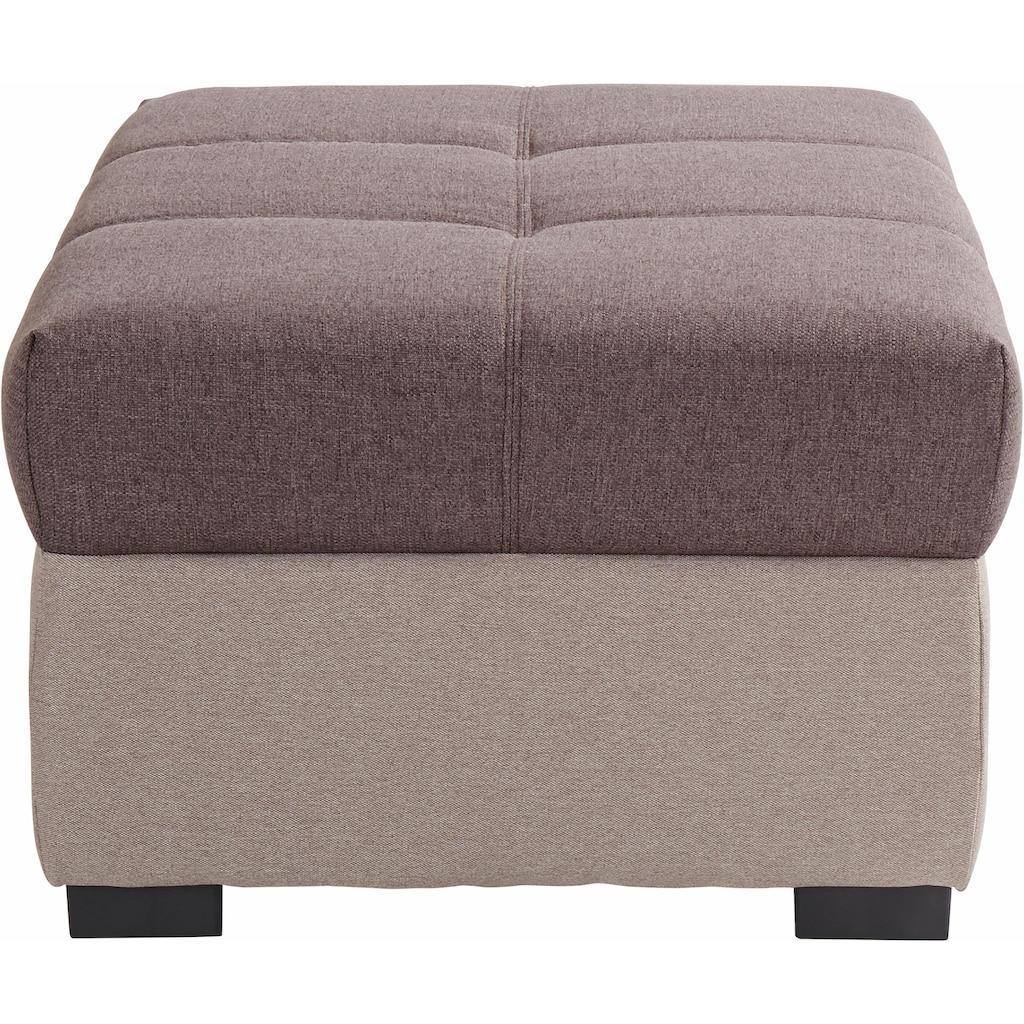 COTTA Polstergarnitur, (Set), Set: bestehend aus 2-Sitzer Sofa und Hocker, frei im Raum stellbar