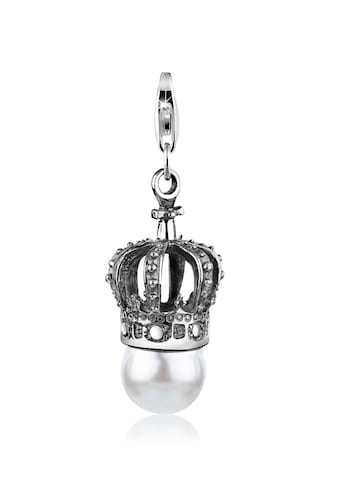 Nenalina Charm Perle »Krone Synthetische Perle Royal 925 Silber« kaufen