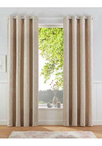 Leonique Gardine »ROMB«, blickdicht, Jacquard mit hochwertigem Muster kaufen
