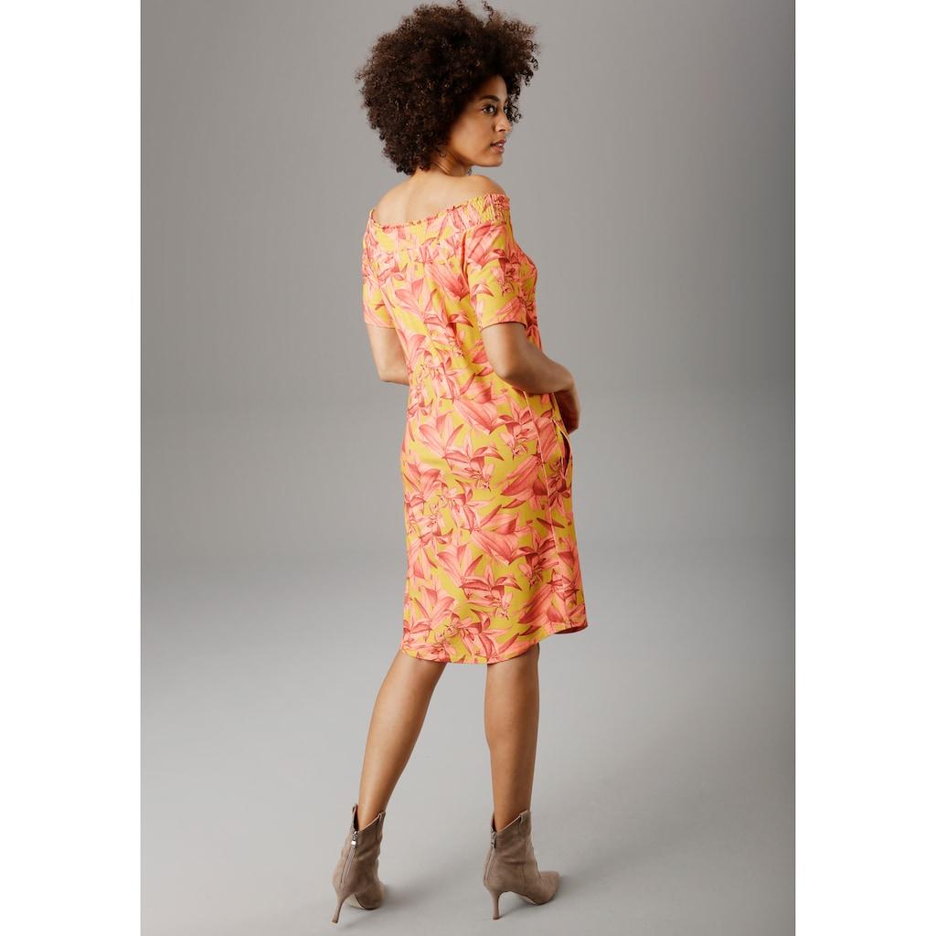 Aniston SELECTED Sommerkleid, mit Carmen-Ausschnitt
