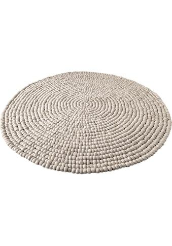 Wollteppich, »Maja«, Home affaire, rund, Höhe 22 mm, handgewebt kaufen