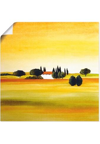 Artland Wandbild »Sonniger Tag III«, Felder, (1 St.), in vielen Größen & Produktarten... kaufen