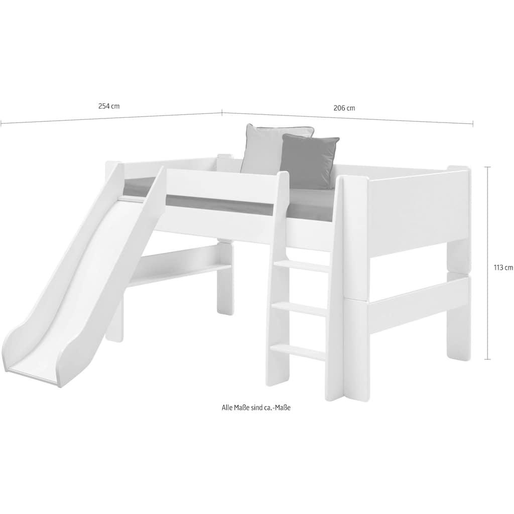 STEENS Spielbett »FOR KIDS«, mit Leiter und Rutsche, in verschiedenen Farben