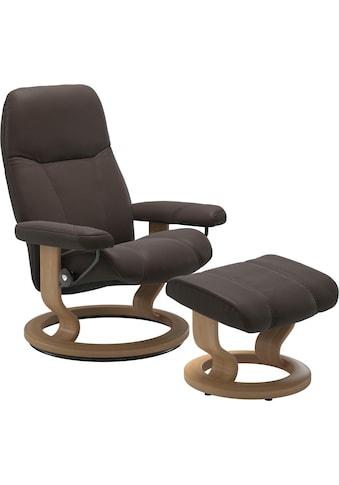 Stressless® Relaxsessel »Consul«, mit Hocker, mit Classic Base, Größe M, Gestell Eiche kaufen