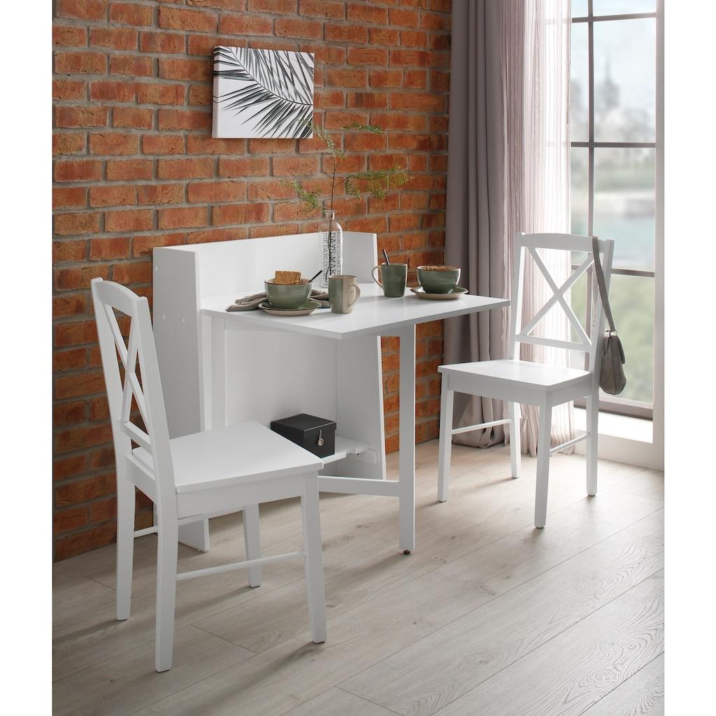 Home affaire Klapptisch »Dinant«, im Landhaus-Stil gehalten, platzsparend, einklappbar, Breite 84 cm