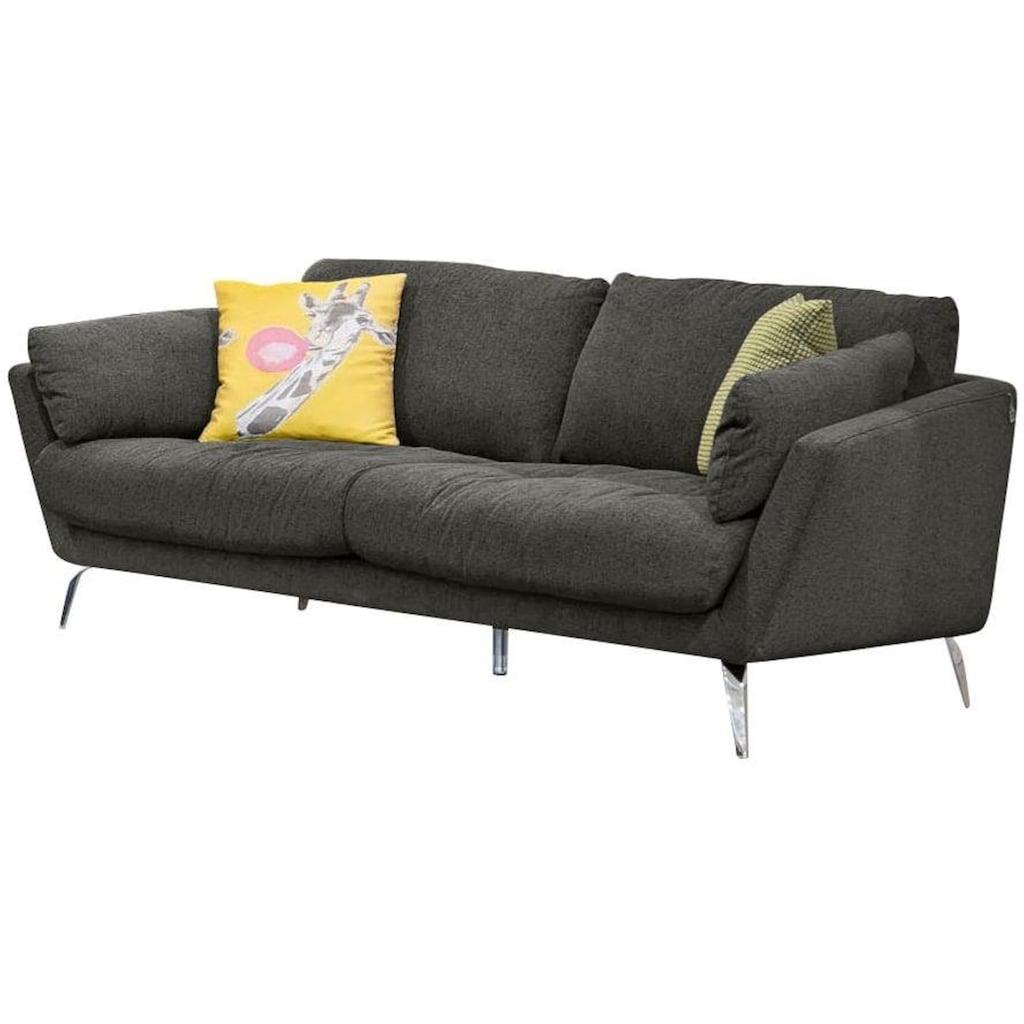 W.SCHILLIG 2-Sitzer »softy«, mit dekorativer Heftung im Sitz, Füße Chrom glänzend
