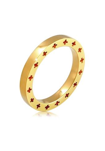 Elli Fingerring »Kreuz Side Cut Out Bandring 925 Silber« kaufen