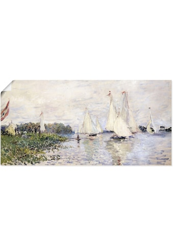 Artland Wandbild »Regatta in Argenteuil. 1874«, Gewässer, (1 St.), in vielen Größen &... kaufen