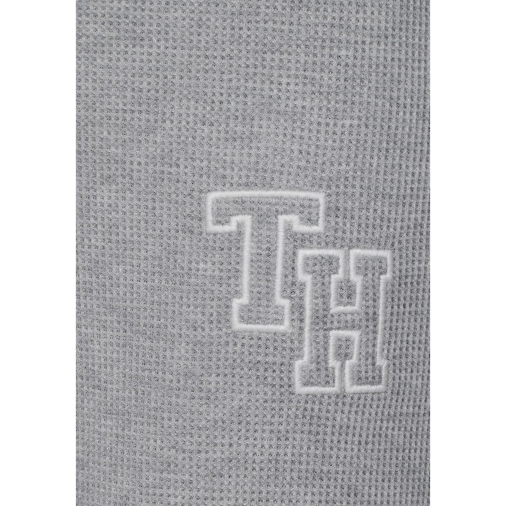 TOMMY HILFIGER Relaxhose, in Waffelpiqué-Optik mit hohem Bund