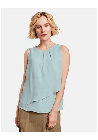 GERRY WEBER Bluse ohne Arm »Blusentop mit Überwurf« kaufen
