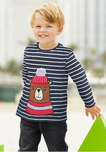 Klitzeklein Langarmshirt »Interlockshirt«, mit Druck kaufen