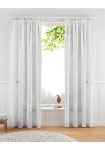 Guido Maria Kretschmer Home&Living Gardine »TENDER«, transparent, Leinen Optik mit... kaufen