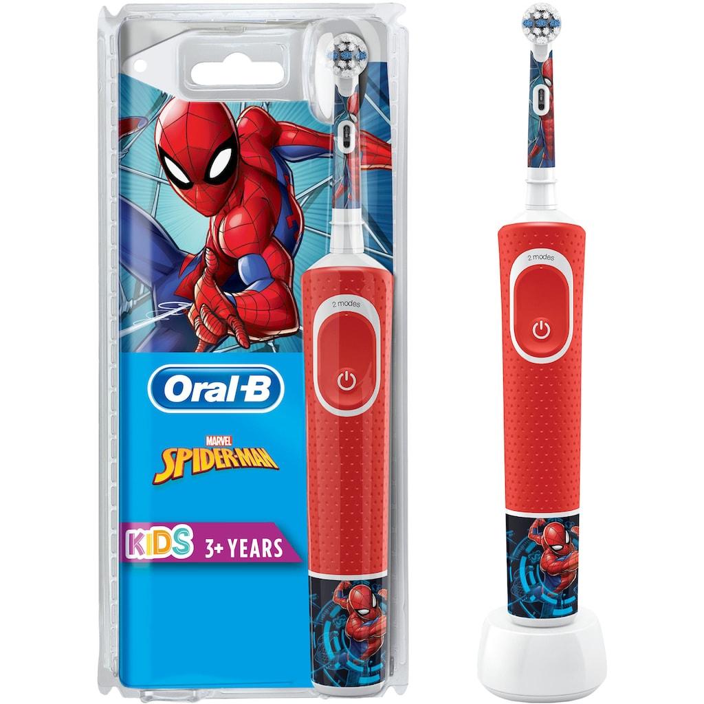 Oral B Elektrische Kinderzahnbürste »Kids Spiderman«, 1 St. Aufsteckbürsten
