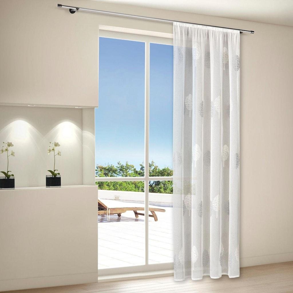 Gerster Vorhang »Egil«, HxB: 235x140, Schlaufenschal mit Kräuselband bestickt