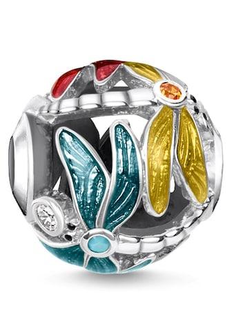 THOMAS SABO Bead »Karma Bead Libelle, K0315-340-7«, mit synth. Korund, Glassteinen und... kaufen