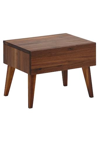 Home affaire Nachttisch »Natali«, aus massivem rustikalem Nussbaumholz mit... kaufen