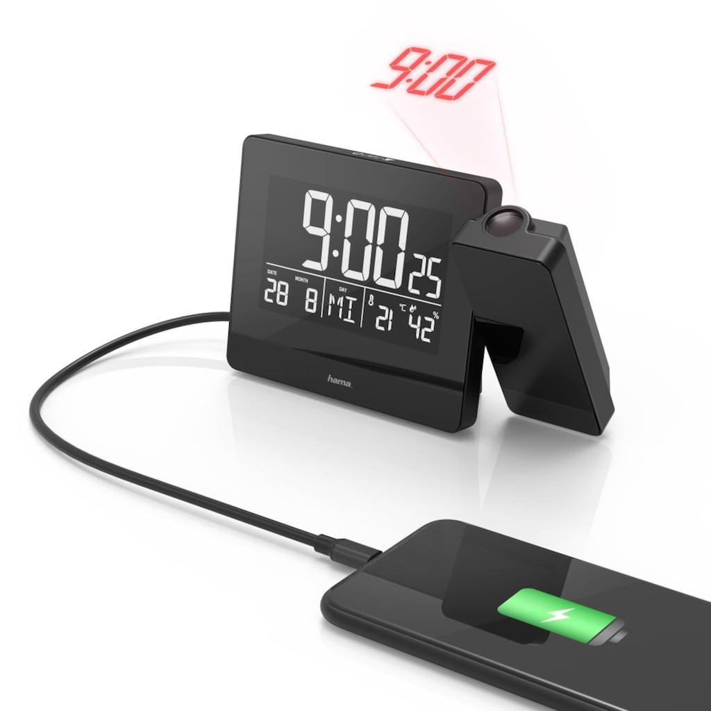 Hama Projektionswecker Funkwecker Wecker,Uhrzeit,Temperatur