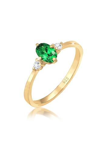 Elli Fingerring »Zirkonia Kristalle Grün Verlobung 925er Silber« kaufen