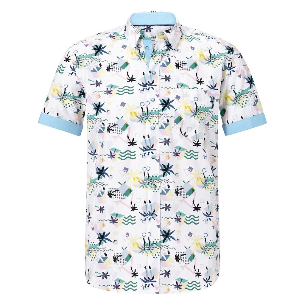 SHIRTMASTER Kurzarmhemd »summerinflorida«, mit zweifarbigen Knöpfen