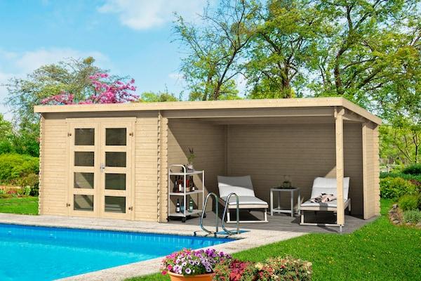 Holz-Gartenhaus mit Pultdach