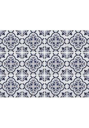 Home affaire Fliesenaufkleber »blaue Ornamente« kaufen