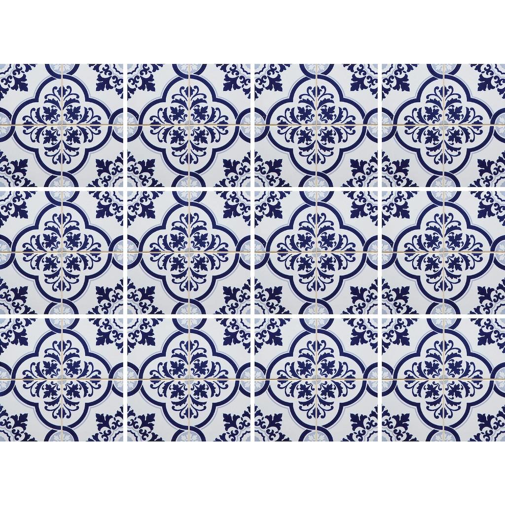 Home affaire Fliesenaufkleber »blaue Ornamente«