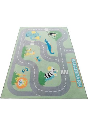 Kinderteppich, »Safari«, Lüttenhütt, rechteckig, Höhe 6 mm, Transferdruck kaufen