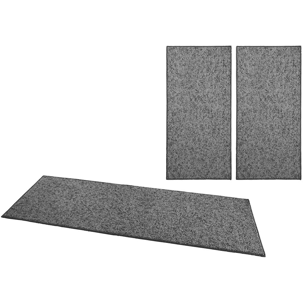 BT Carpet Bettumrandung »Wolly 2«, Woll-Optik, Hoch-Tief-Effekt