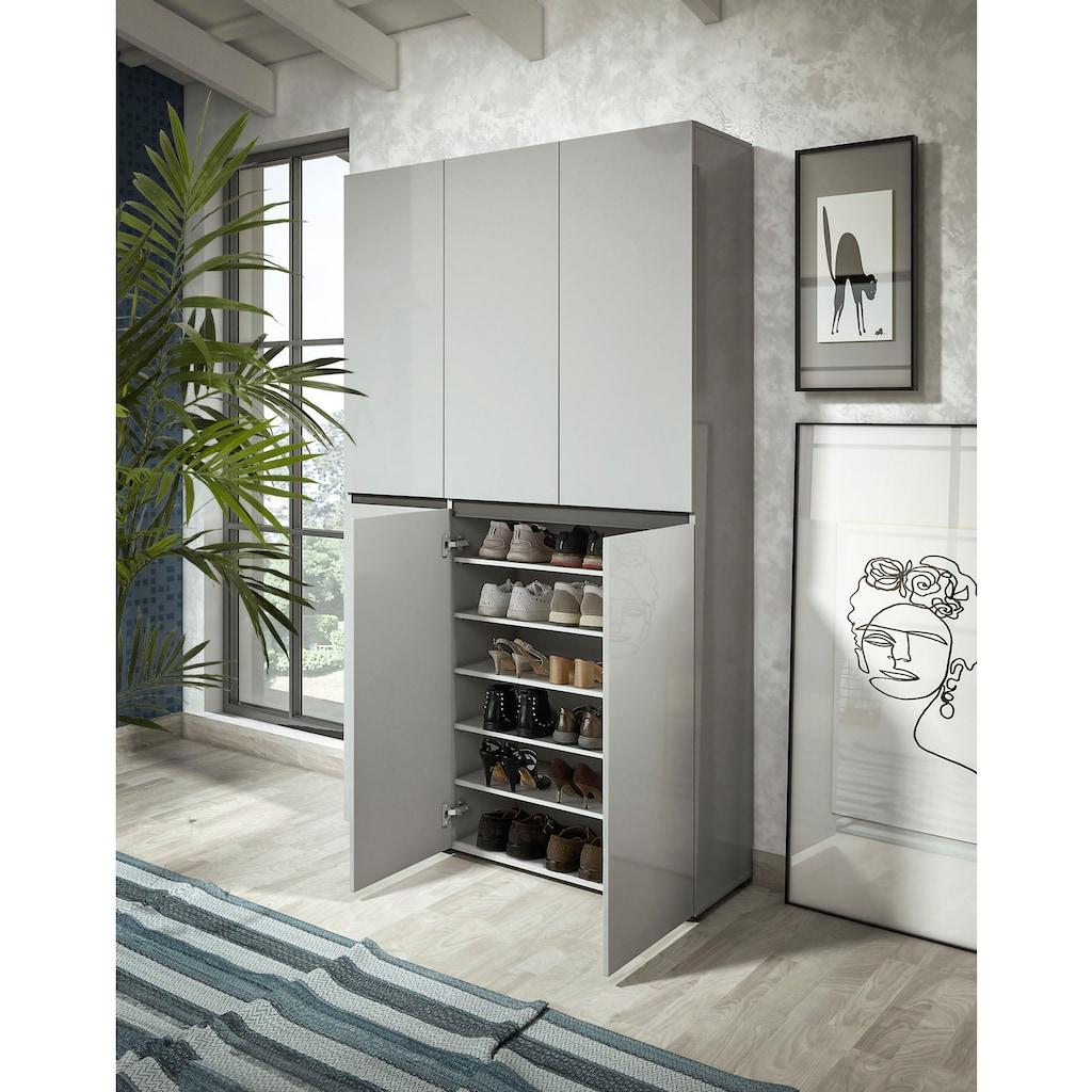 KITALY Schuhschrank »Mister«, Breite 120 cm, Höhe 200 cm, 6 Türen