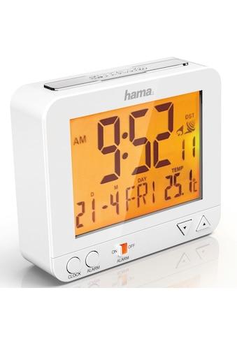 Hama Funkwecker RC 550, Nachtlicht Sensor, Thermometer, Weiß »digitaler Funk Reisewecker« kaufen