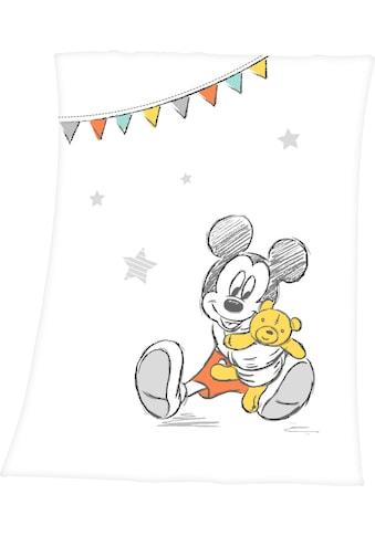 Walt Disney Babydecke »Disney´s Mickey Mouse«, mit niedlichem Mickey Mouse Design kaufen