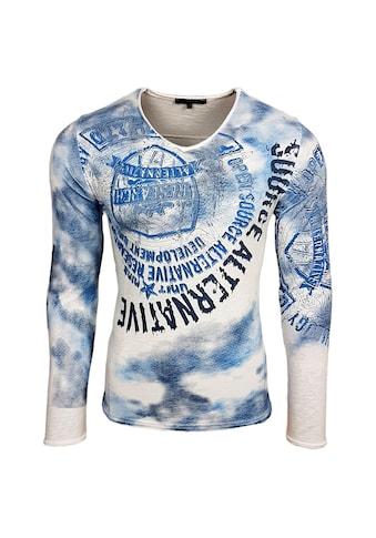 Rusty Neal Langarmshirt mit coolem Frontdruck kaufen
